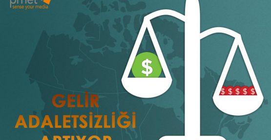 GELİR ADALETSİZLİĞİ ARTIYOR