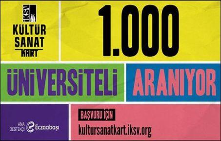 İKSV Kültür Sanat Kart 2018 Yılı İçin 1000 Üniversiteli Arıyor
