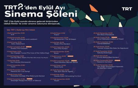 TRT 2'den Eylül Ayında Her Akşam Farklı Film