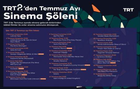 TRT 2'den Temmuz Ayında Her Akşam Farklı Film