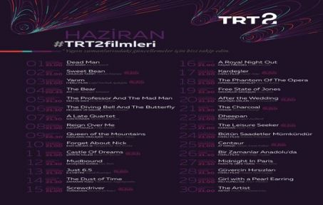 TRT 2'nin Haziran Filmleri Belli Oldu