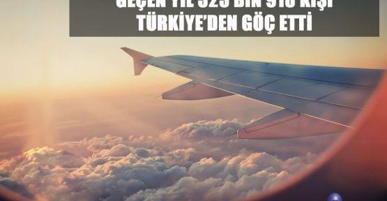 TÜRKİYE'DEN GÖÇ ARTTI